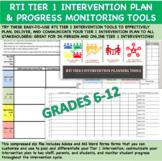 RTI-PBIS Tier 1 Intervention Tools for Grades 6-12 | Dista