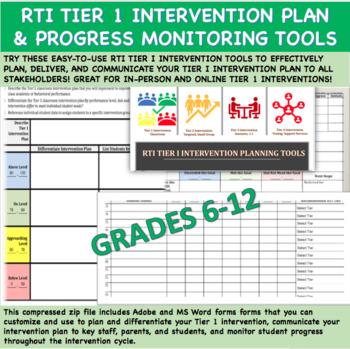 RTI Tier 1 Progress Monitoring Forms (MS-HS)