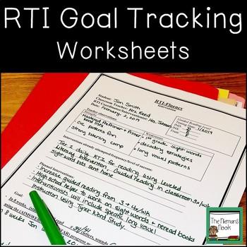 RTI Data Tracking Worksheets