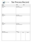 RTI Tier Process Recording Sheet