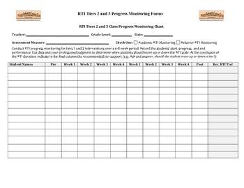 RTI Tiers 2-3 Progress Monitoring Forms (ES)