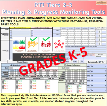 RTI Tiers 2-3 Progress Monitoring Forms (ES)