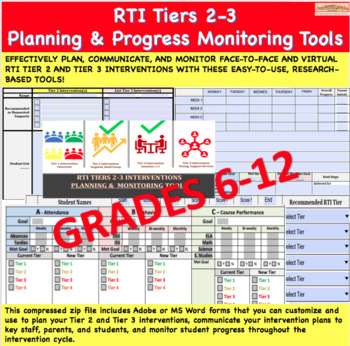RTI Tiers 2-3 Progress Monitoring Forms (MS-HS)