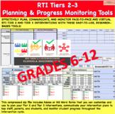 RTI Tiers 2-3 Plan & Progress Monitoring Tools 6-12 | Dist