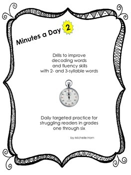 RTI Two:  Minutes a Day 2- Help for Struggling Readers