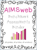 RTI Universal Screening Assessments Binder Set: AIMSweb, DIBELS or mCLASS