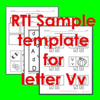 "RTI Vv ""fonema"" correspondiente activities set of 3"