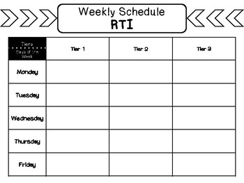 RTI Weekly Planning Spreadsheet