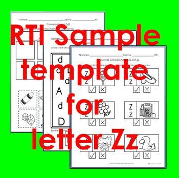 "RTI Zz ""fonema"" correspondiente activities set of 3"