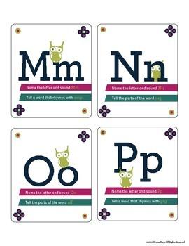 Alphabet and Phonemic Awareness Flashcards