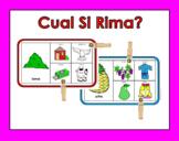 RTI game: Cual Si Rima? Color Cards