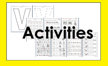RTI letra Vv activities and/or morning work (Spanish only)