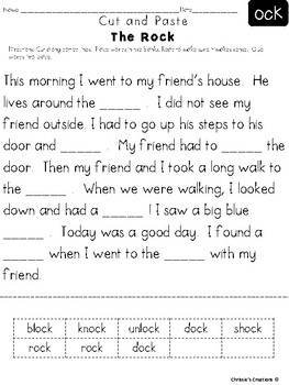 Phonics Word Families reading Intervention: 'O'  Great for RTI and IEP goals