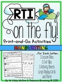 RTI on the Fly: Handwriting