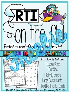 RTI on the Fly: Letter Identification FREEBIE!