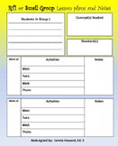 RTI or Small Group Lesson Plans Template