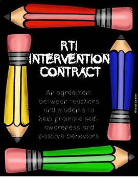 RTI or therapy contract between students and teachers