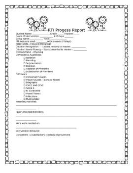 RTI progress report