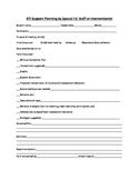 RTI support planning document