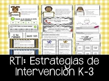 RTI - Intervenciones en español. Estrategias y actividades