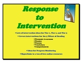 RTI:Response to Intervention-Intervention Ideas for All Ar