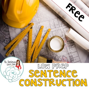 Sentence Construction FREEBIE!