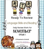RTR (Ready To Review) for November Grade 1