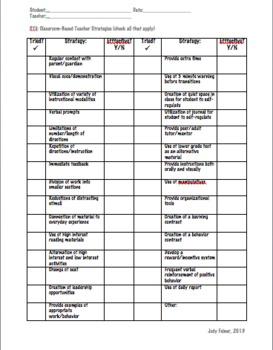 RTii Checklist Referral Sheet