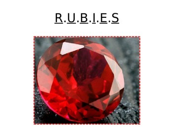 RUBIES! Multiple Choice Test Taking Acronym and Strategies Minilesson