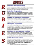 RUBIES Science Test Taking Strategy Poster