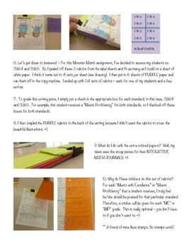 RUBRIC LABELS - Common Core Math Grade 4 (Grade 1-5 Available)