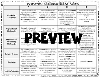 RUBRIC (Overcoming Challenges Writing Responses/Essays)