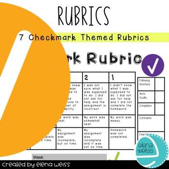 Rubrics: Writing (3), Homework, Groups, Behavior and Presentation-Classic Theme