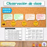 ¡GRATIS! RÚBRICA OBSERVACIÓN DE CLASE + POSTER + AUTOEVALUACIÓN / Esp-cat-eng