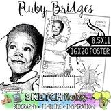 RUBY BRIDGES, WOMEN'S HISTORY, BIOGRAPHY, TIMELINE, SKETCH