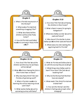 RUBY HOLLER By Sharon Creech - Discussion Cards