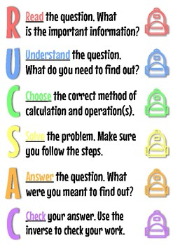 RUCSAC Poster by Miss Livesey | Teachers Pay Teachers