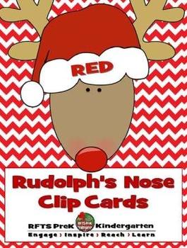 RUDOLPH'S NOSE CLIP CARDS