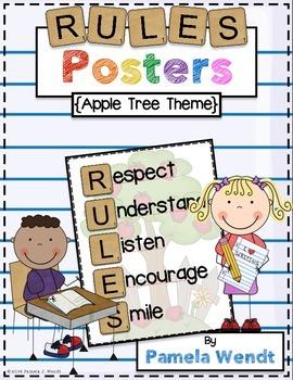 RULES Acronym Poster {Apple Tree Theme}