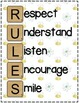 RULES Acronym Poster {Cute Bee Theme}