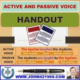 ACTIVE AND PASSIVE VOICE : SCAFFOLDING NOTES