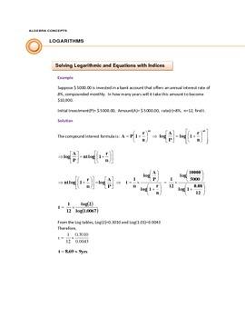 RULES of LOGARITHMS & SOLVING LOGARITHMIC EQUATIONS
