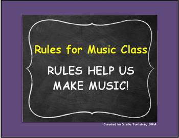 RULES FOR MUSIC CLASS