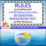 RULES | PRINTABLE WHOLE BOOK TEST | 35 MULTIPLE CHOICE QUESTIONS
