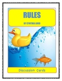 RULES by Cynthia Lord - Discussion Cards PRINTABLE & SHAREABLE