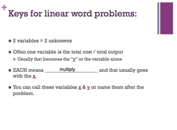 R.U.L.E.S for Solving Linear Equation Word Problems Powerpoint