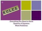 R.U.L.E.S. for Solving Systems of Equations Word Problems Powerpoint