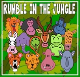 RUMBLE IN THE JUNGLE STORY TEACHING RESOURCES EYFS KS 1-2 STORY ANIMALS