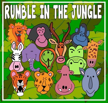RUMBLE IN THE JUNGLE STORY TEACHING RESOURCES EYFS KS 1-2