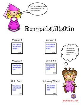 RUMPELSTILTSKIN w/ QR CODES & LINKS (FACT OR FICTION) Listening Center